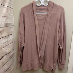 AE | Oversized Hooded Open Cardigan in Dusty Rose